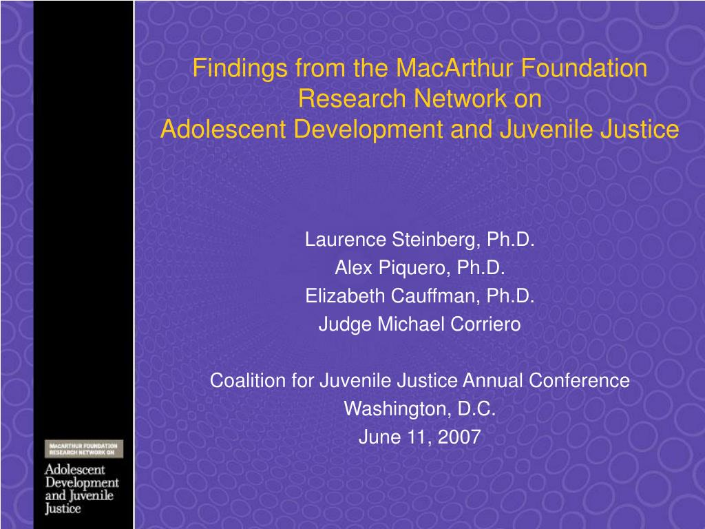 Findings from the MacArthur Foundation Research Network on