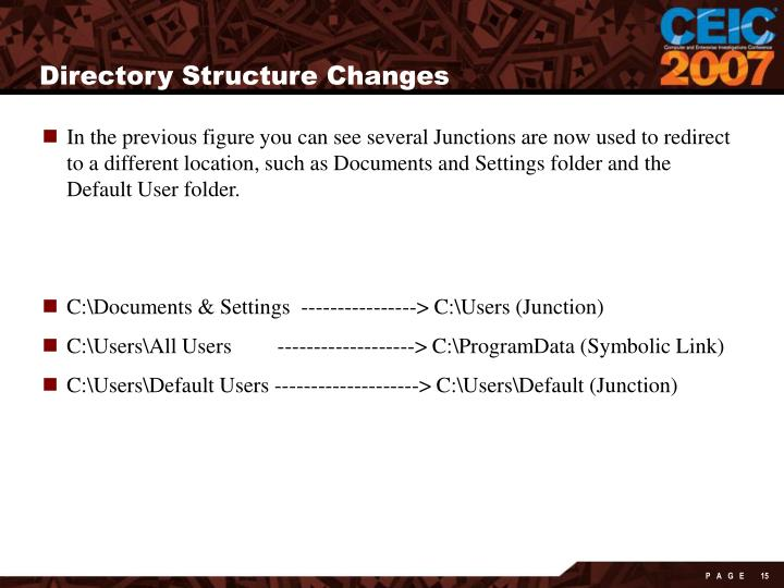 Directory Structure Changes