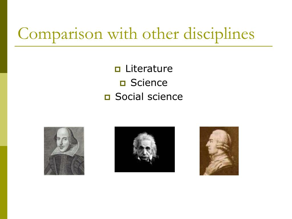 Comparison with other disciplines