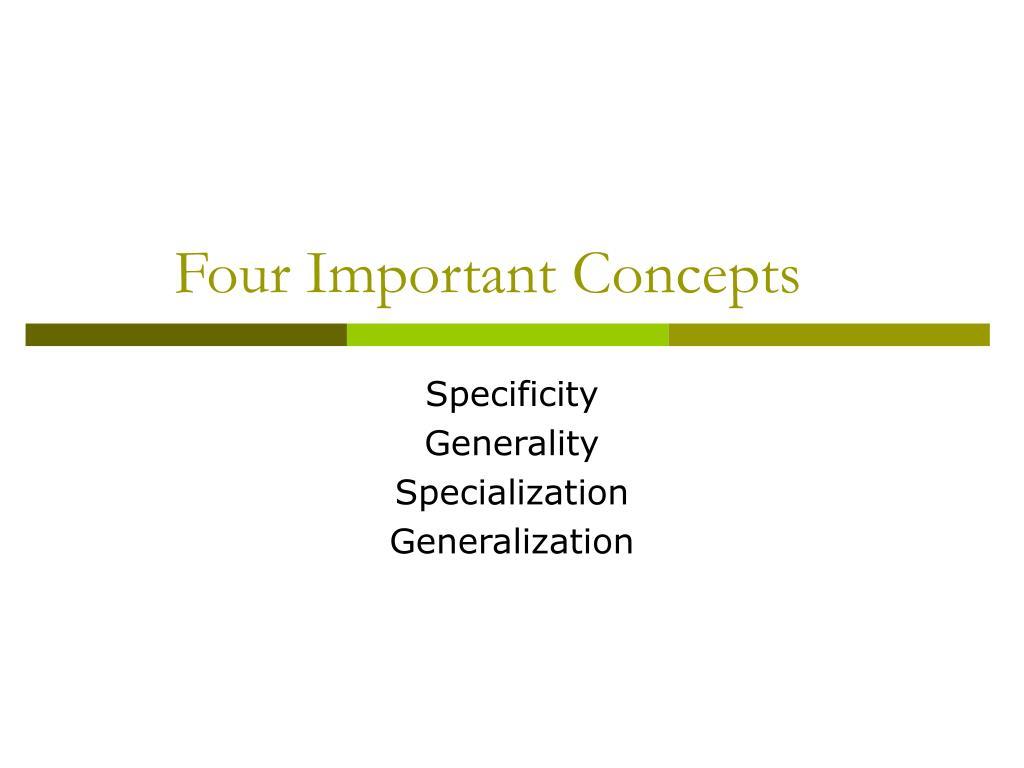 Four Important Concepts