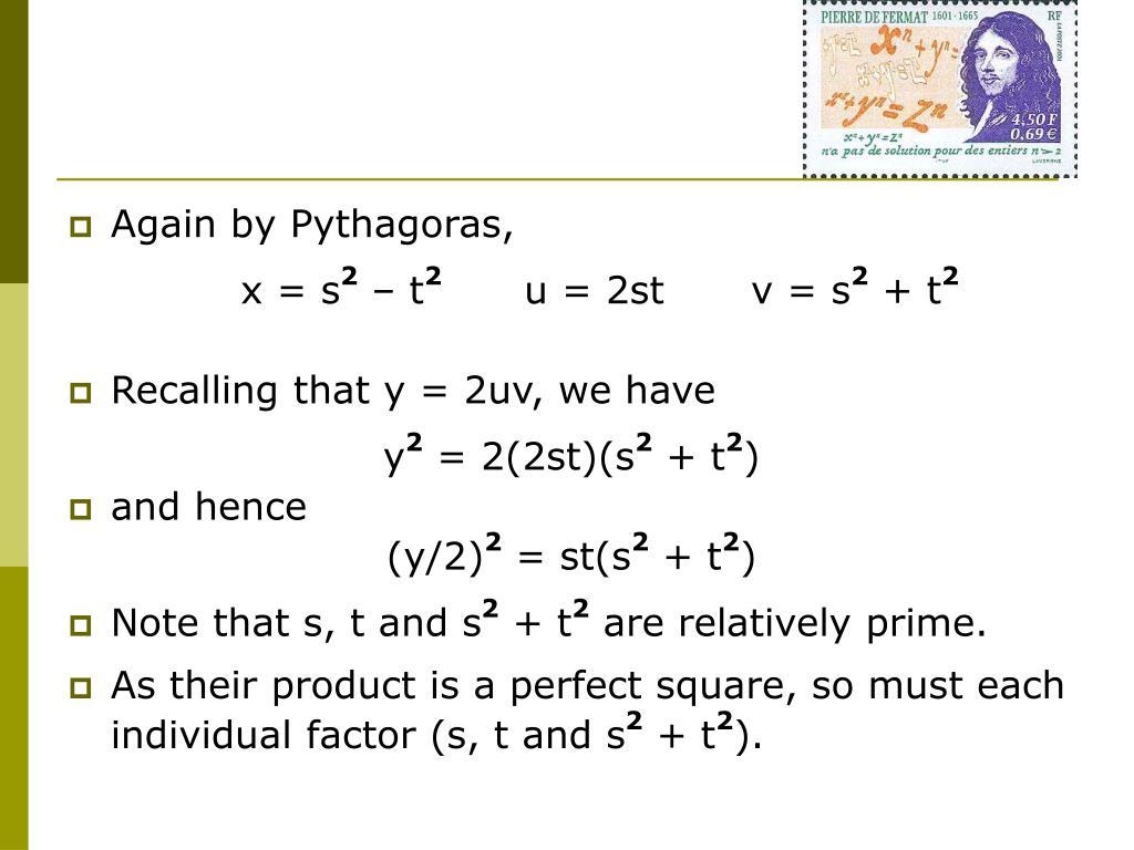Again by Pythagoras,