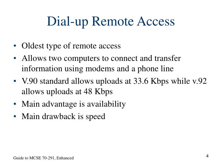 Dial-up Remote Access