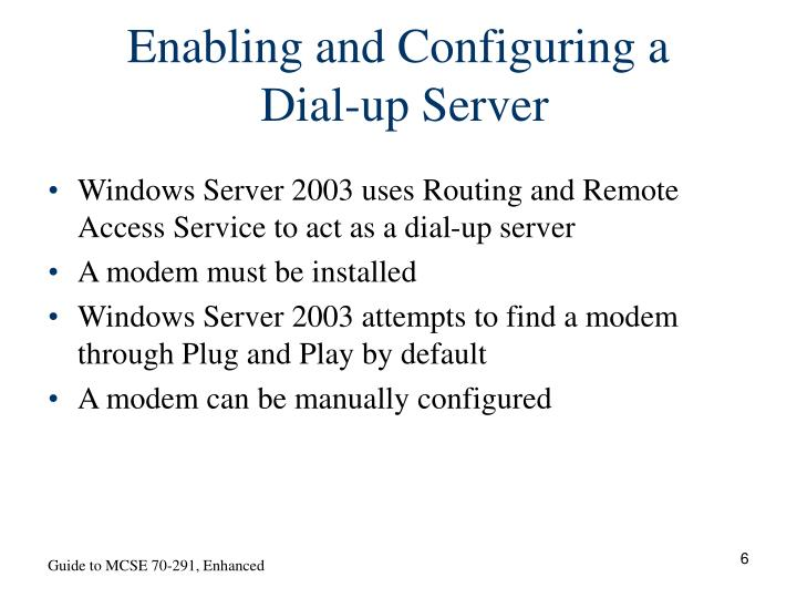 Enabling and Configuring a