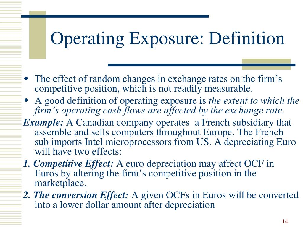 Operating Exposure: Definition