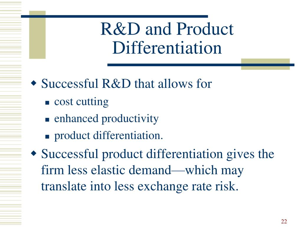 R&D and Product Differentiation