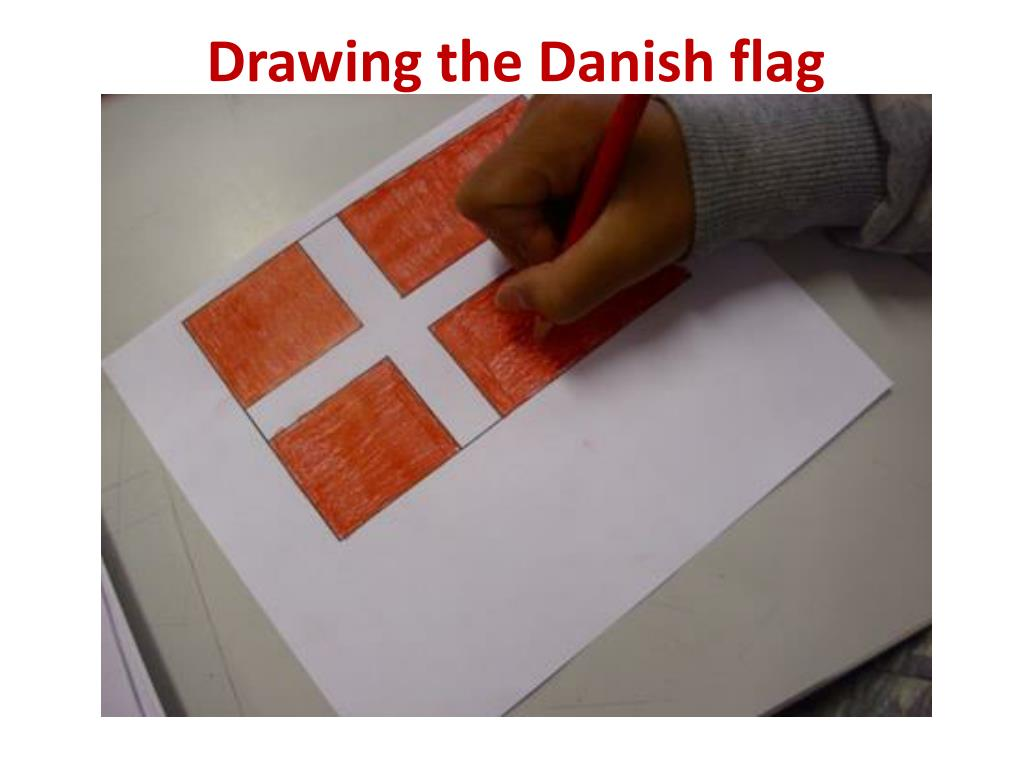 Drawing the Danish flag