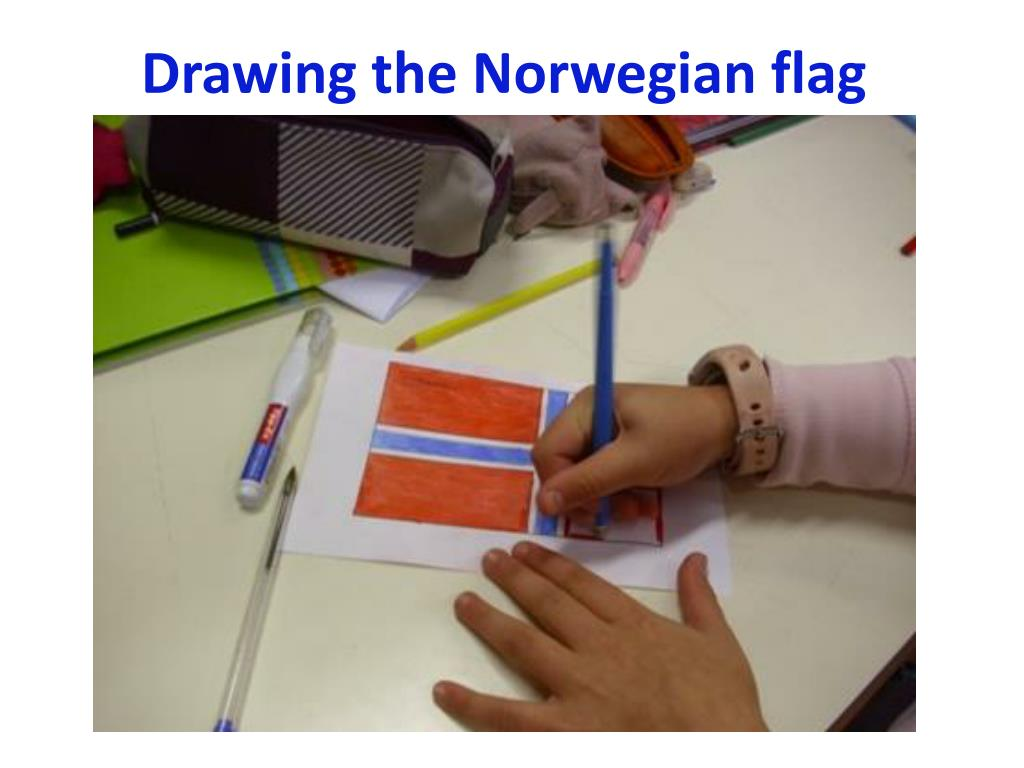 Drawing the Norwegian flag