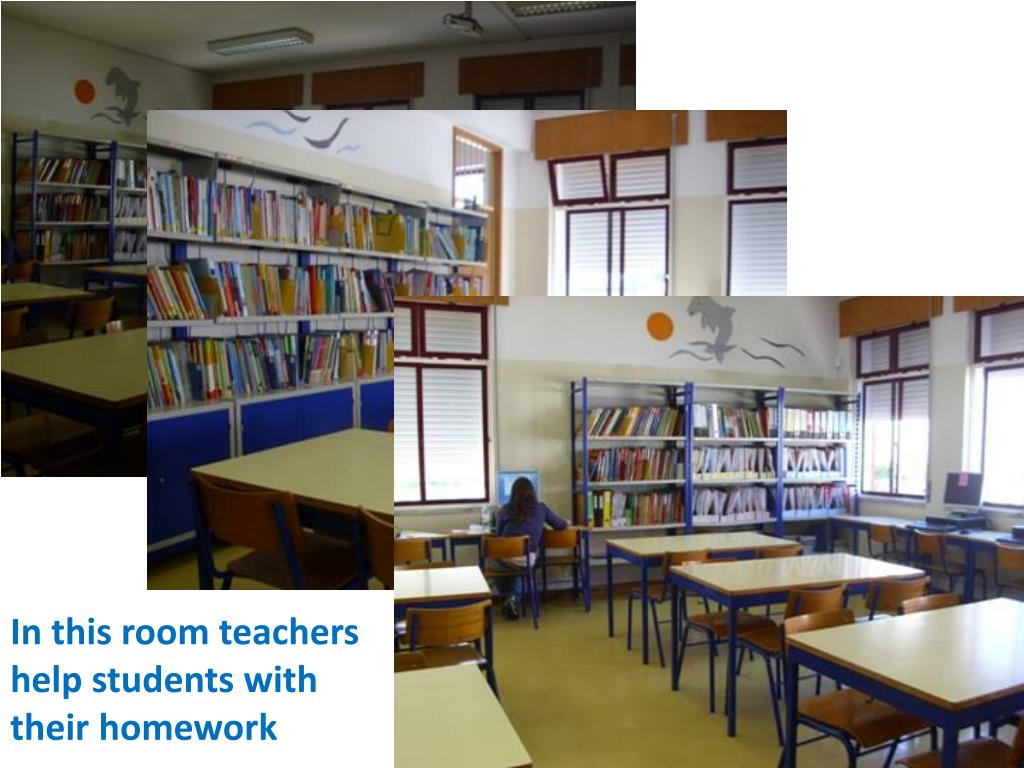 In this room teachers help students with their homework