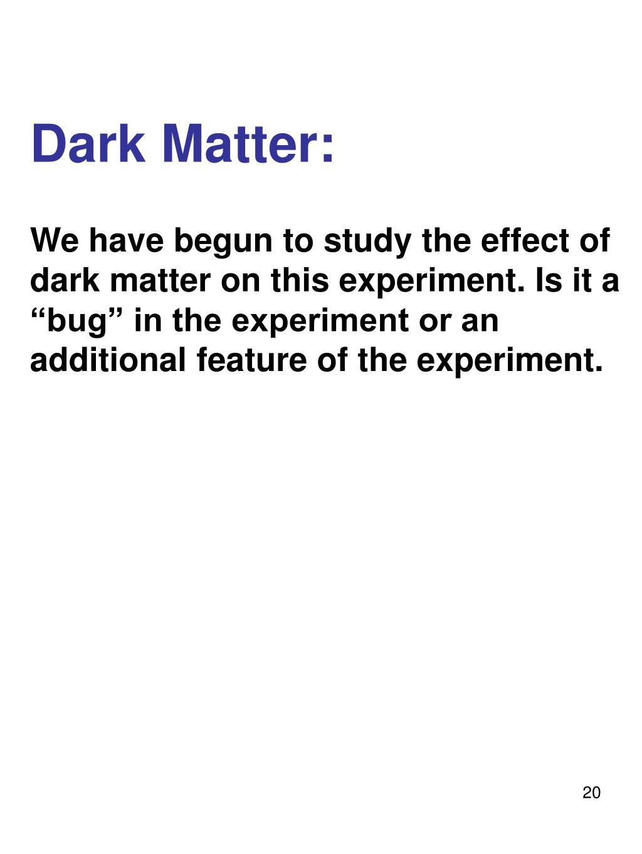 Dark Matter: