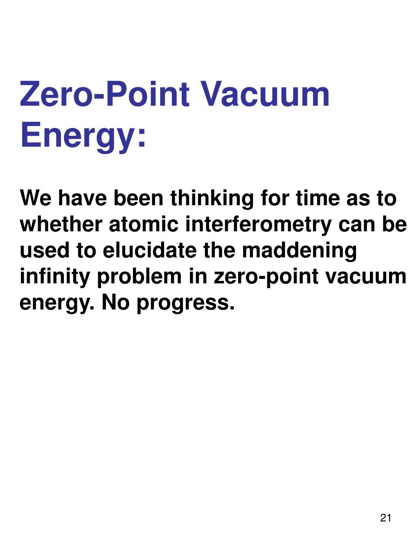 Zero-Point Vacuum Energy: