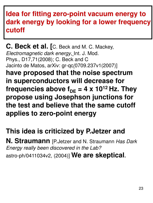 Idea for fitting zero-point vacuum energy to