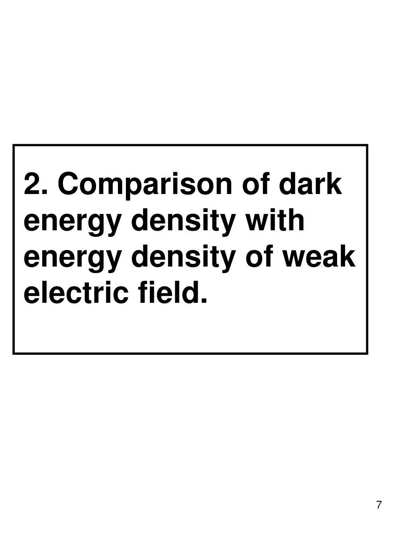 2. Comparison of dark