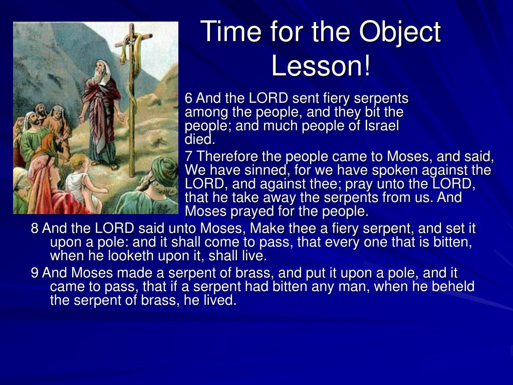 Time for the Object Lesson!