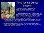 time for the object lesson
