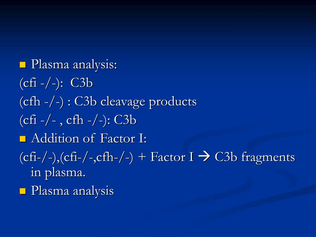 Plasma analysis: