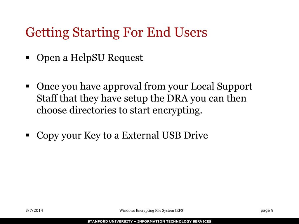 Getting Starting For End Users