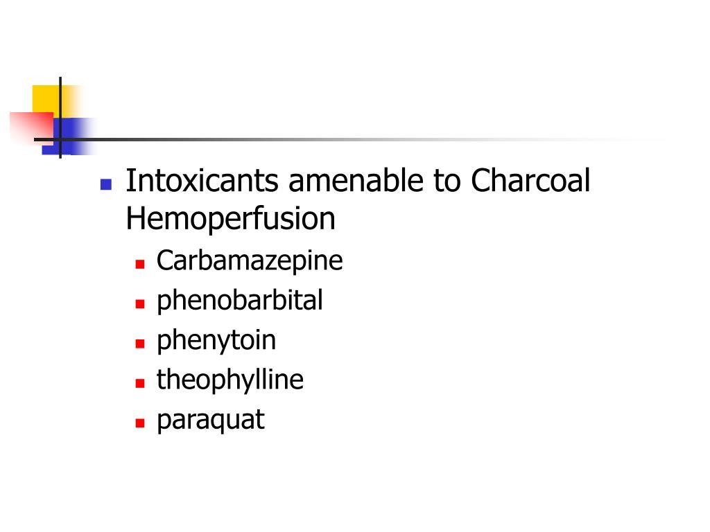 Intoxicants amenable to Charcoal Hemoperfusion