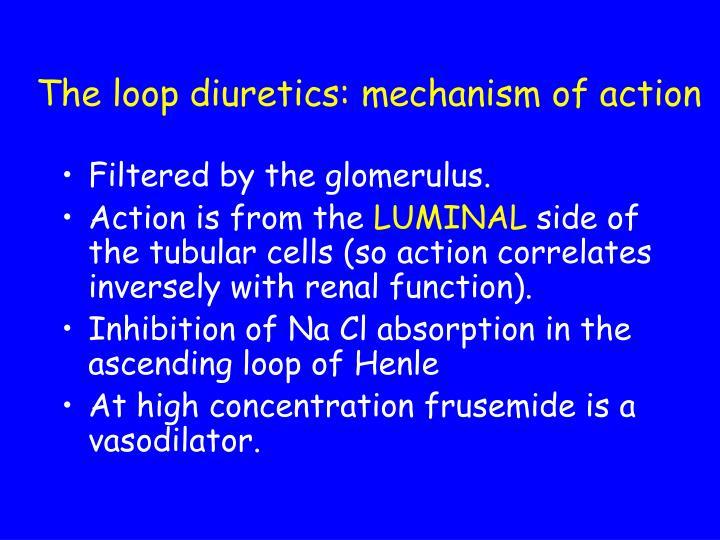 The loop diuretics: mechanism of action