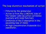 the loop diuretics mechanism of action