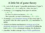 a little bit of game theory