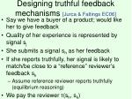 designing truthful feedback mechanisms jurca faltings ec06