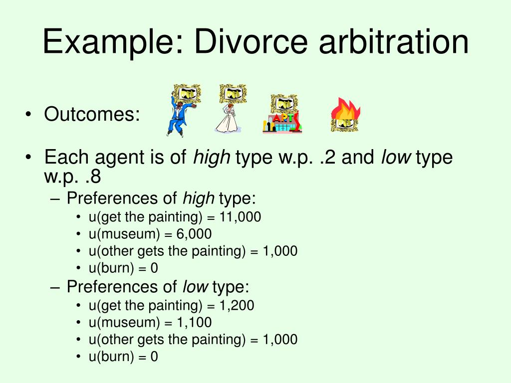 Example: Divorce arbitration