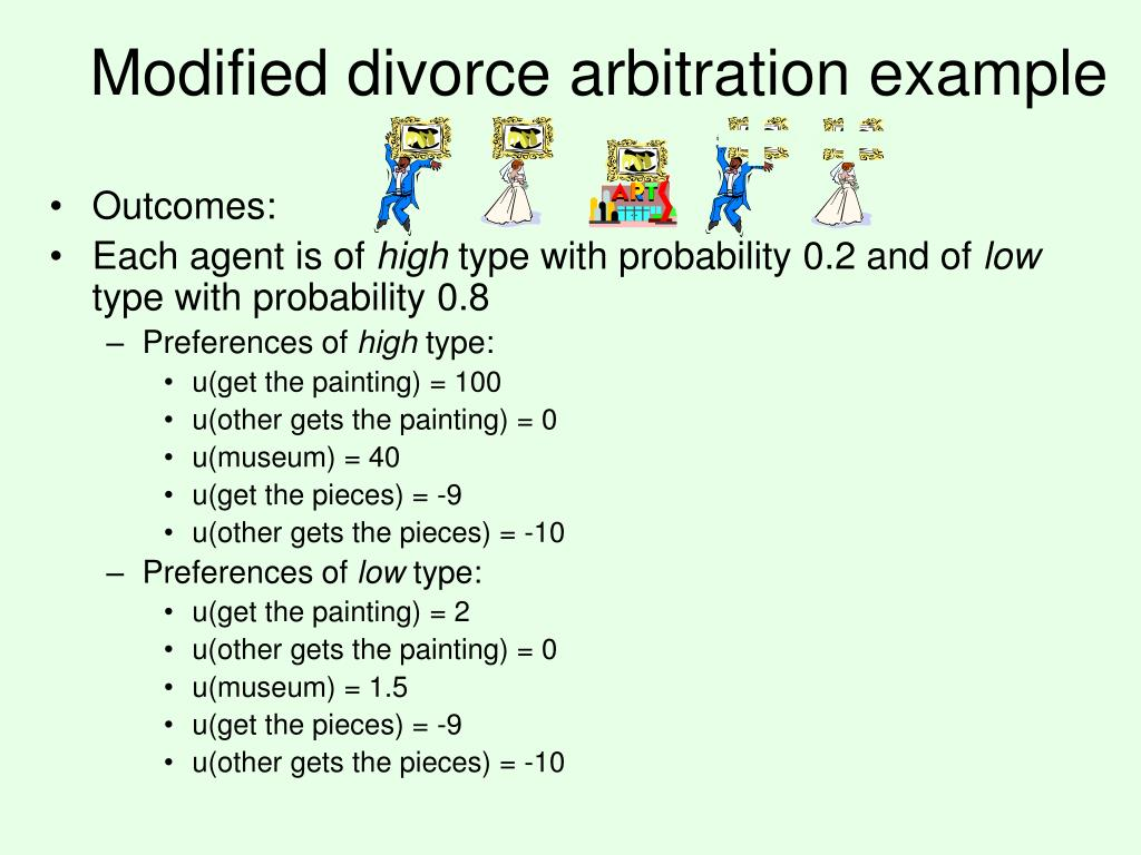 Modified divorce arbitration example