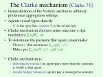 the clarke mechanism clarke 71