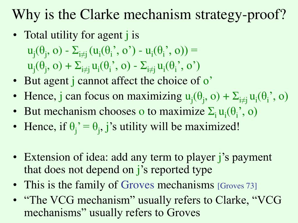 Why is the Clarke mechanism strategy-proof?
