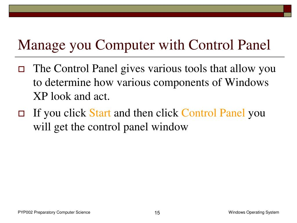 Manage you Computer with Control Panel