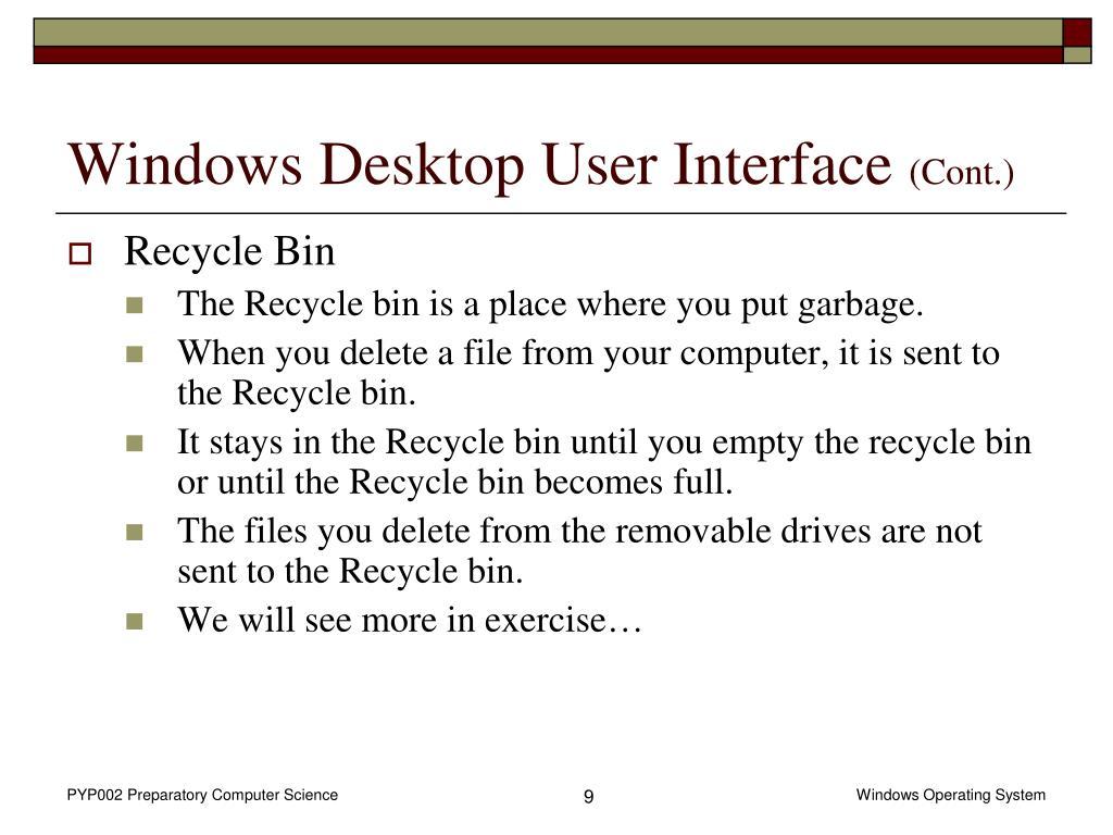 Windows Desktop User Interface