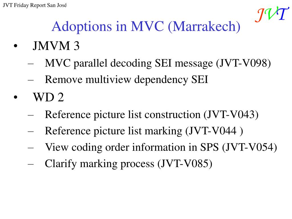 Adoptions in MVC (Marrakech)