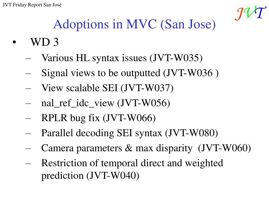 Adoptions in MVC (San Jose)