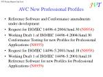 avc new professional profiles