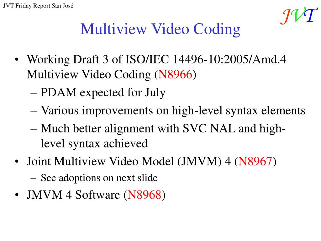 Multiview Video Coding