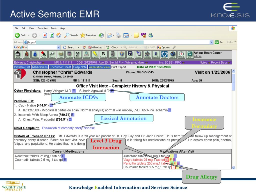 Active Semantic EMR