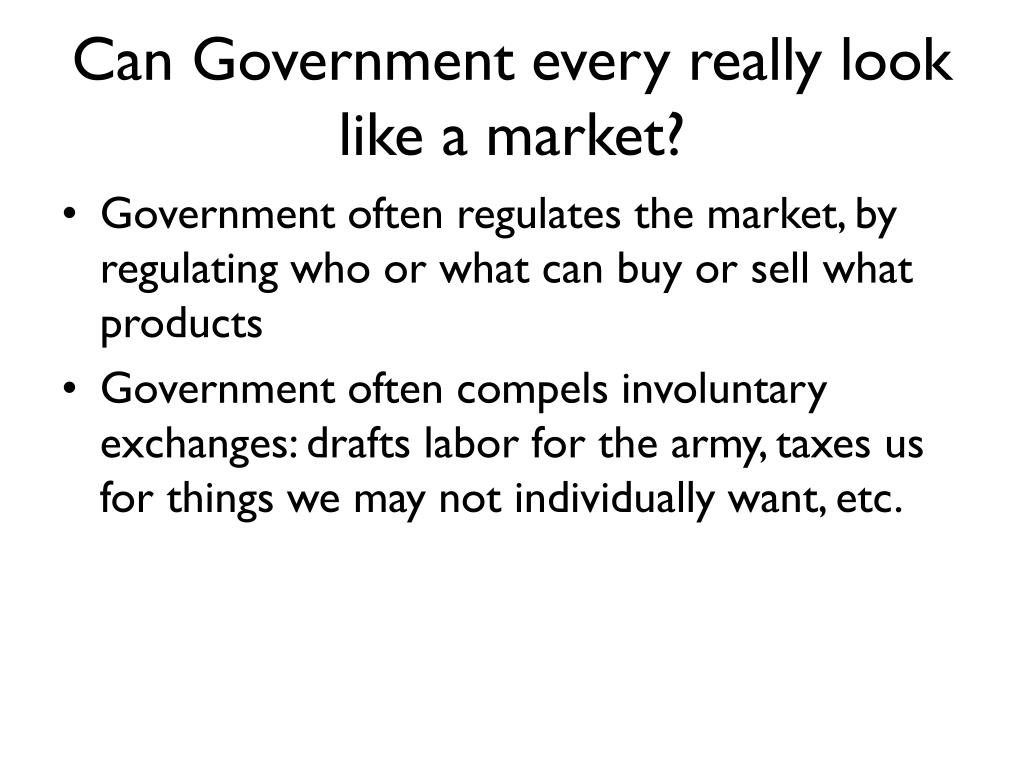 Can Government every really look like a market?