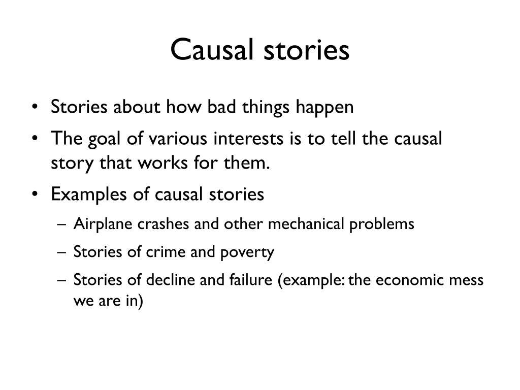 Causal stories