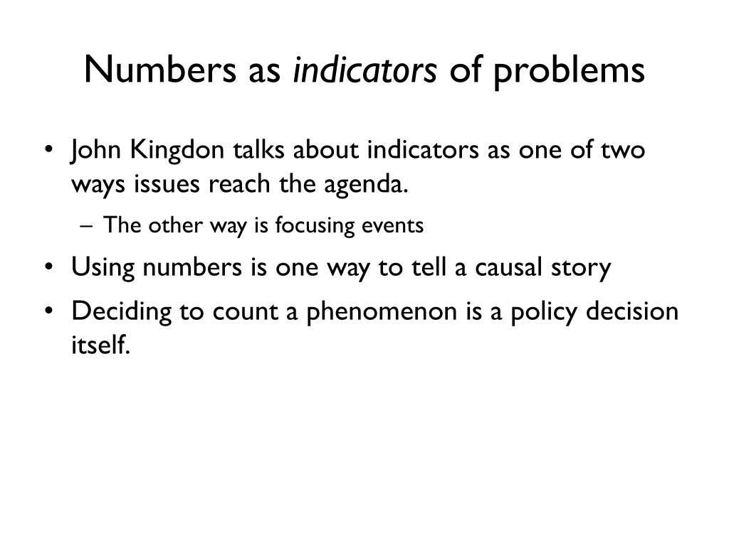 Numbers as