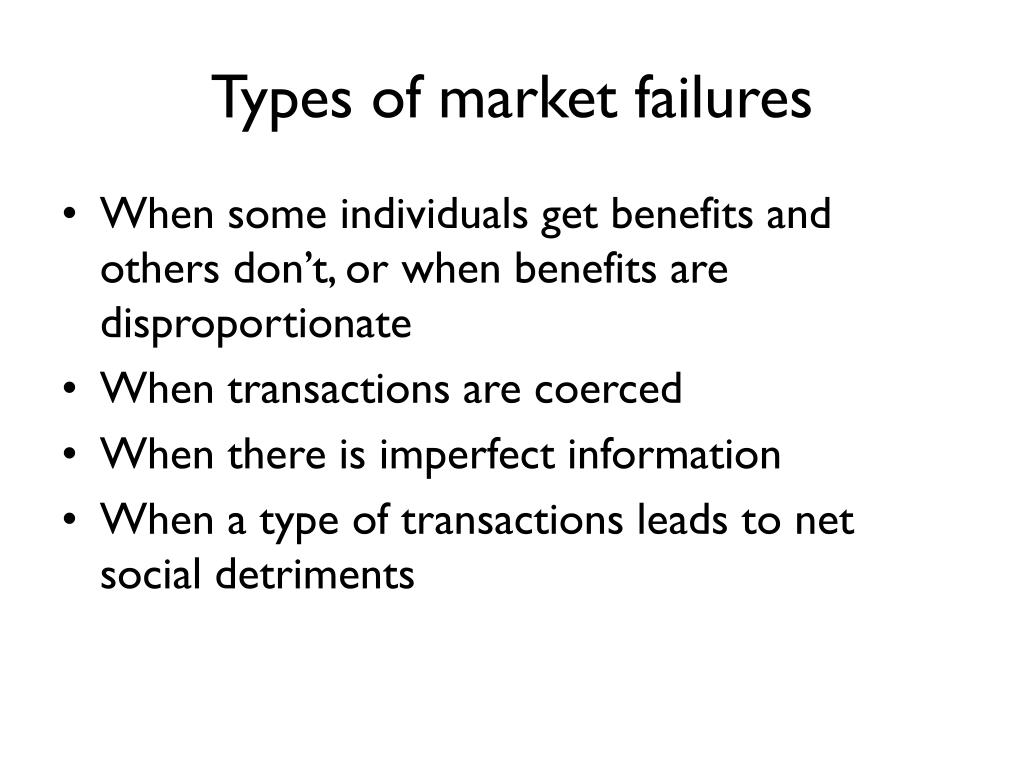 Types of market failures