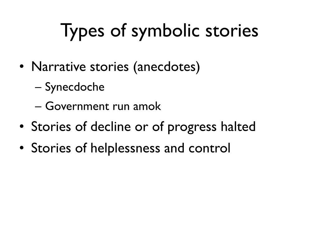 Types of symbolic stories