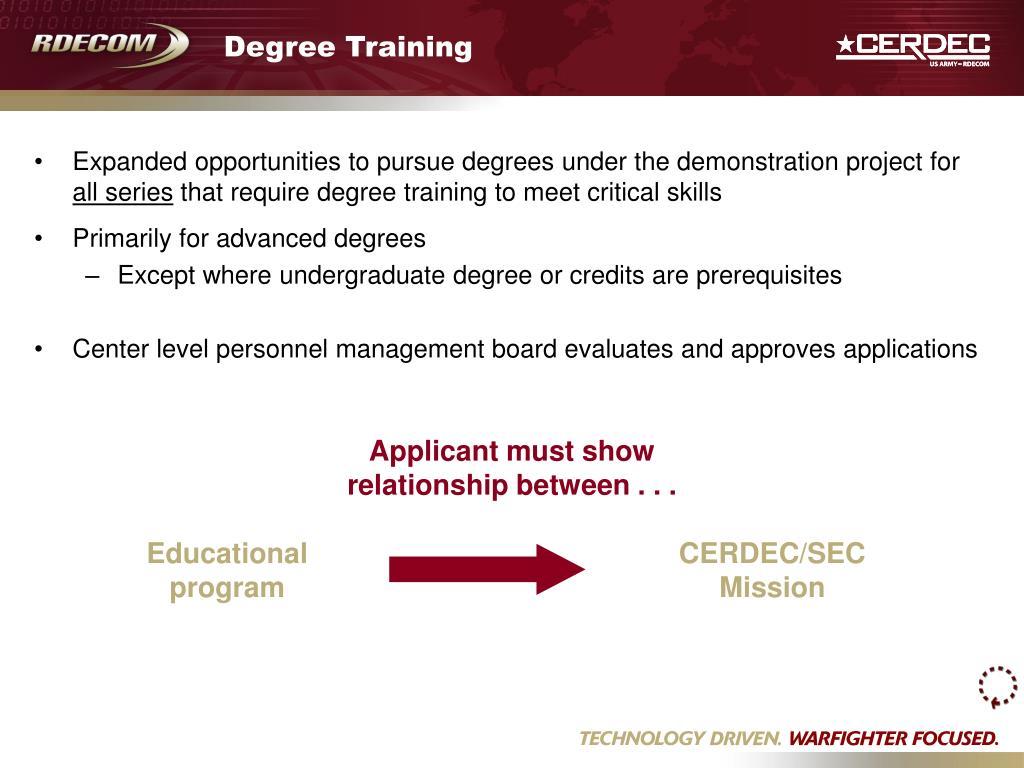 Degree Training