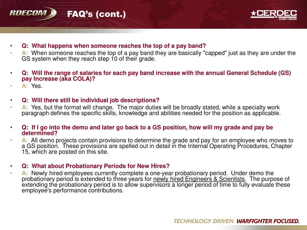 FAQ's (cont.)