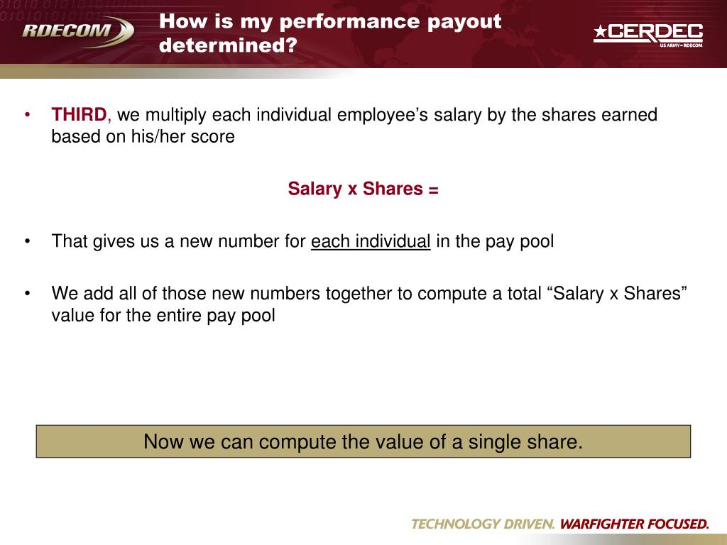 How is my performance payout determined?