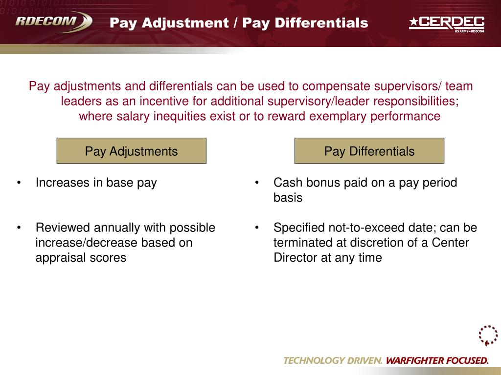 Increases in base pay