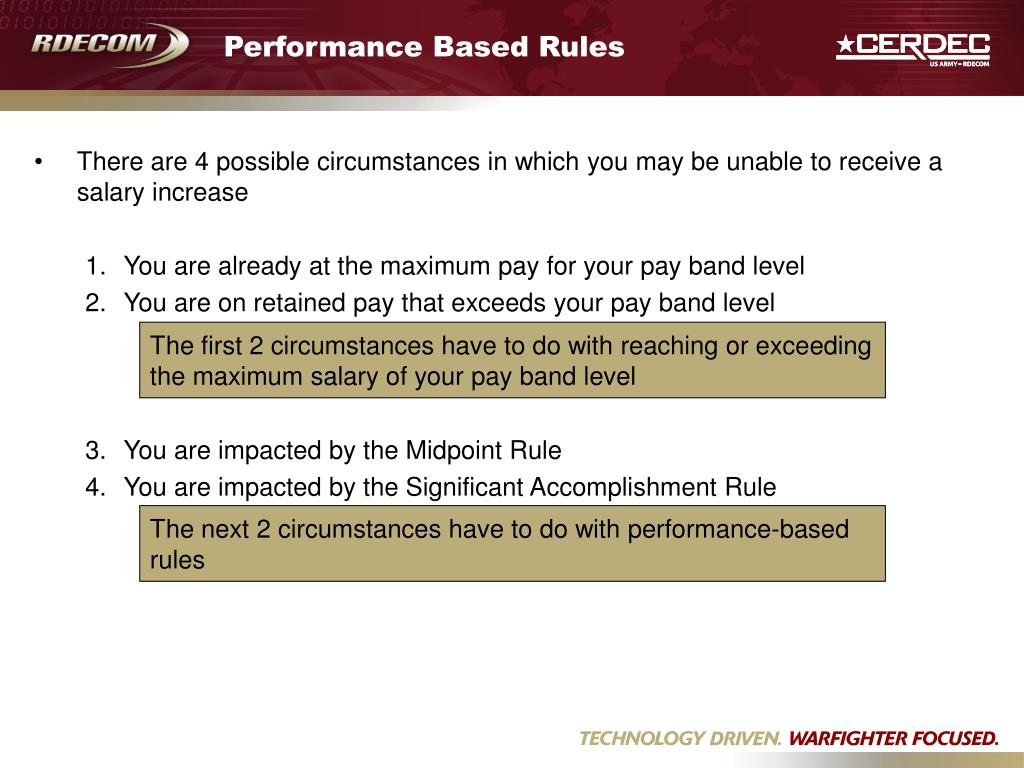 Performance Based Rules
