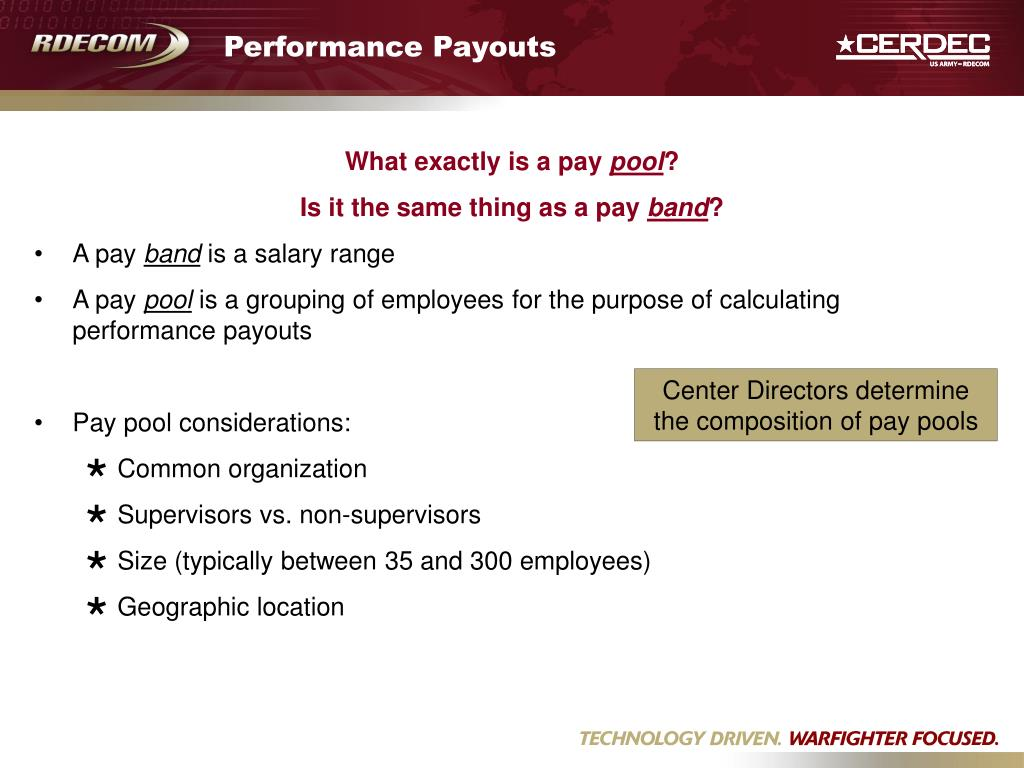 Performance Payouts