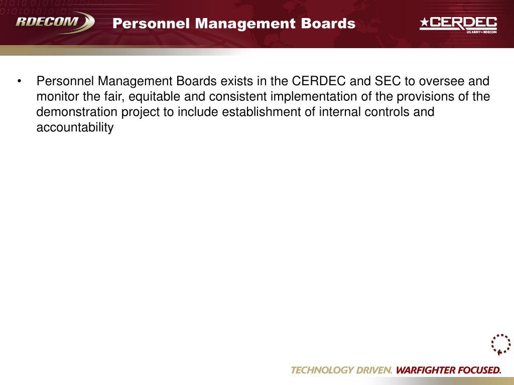 Personnel Management Boards
