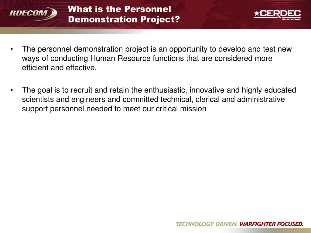 What is the Personnel Demonstration Project?