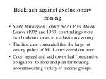 backlash against exclusionary zoning